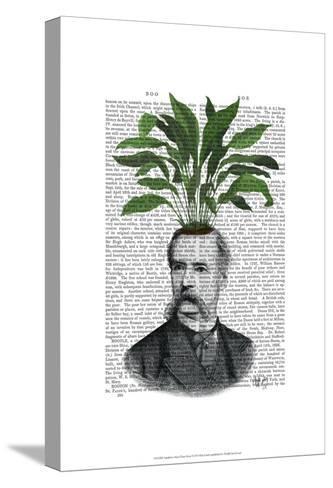 Aspidistra Head Plant Head-Fab Funky-Stretched Canvas Print