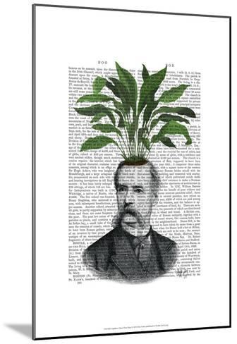 Aspidistra Head Plant Head-Fab Funky-Mounted Art Print