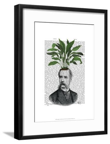 Aspidistra Head Plant Head-Fab Funky-Framed Art Print