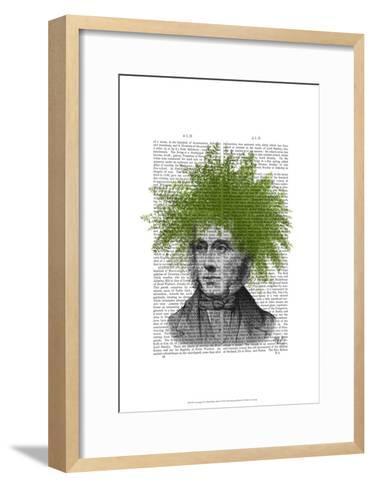Asparagus Fern Head Plant Head-Fab Funky-Framed Art Print