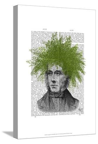 Asparagus Fern Head Plant Head-Fab Funky-Stretched Canvas Print