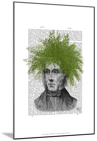 Asparagus Fern Head Plant Head-Fab Funky-Mounted Art Print