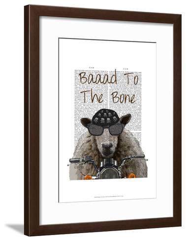 Baaad To the Bone-Fab Funky-Framed Art Print
