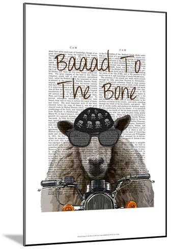 Baaad To the Bone-Fab Funky-Mounted Art Print