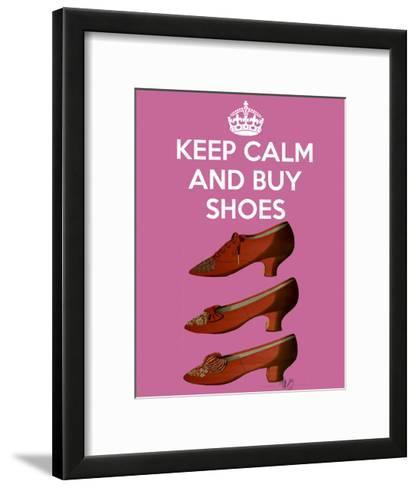 Keep Calm Buy Shoes-Fab Funky-Framed Art Print