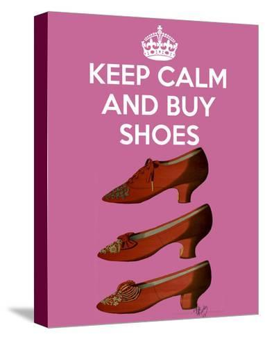 Keep Calm Buy Shoes-Fab Funky-Stretched Canvas Print