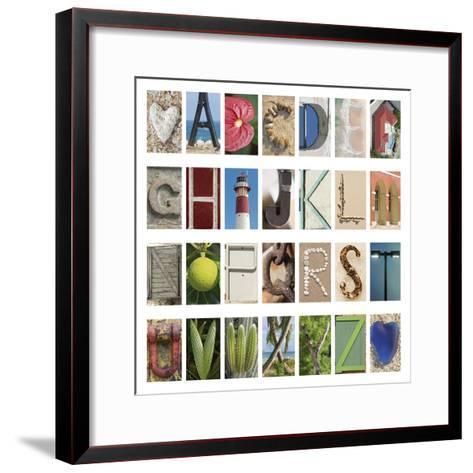 Coastal Alphabet-Mike Toy-Framed Art Print