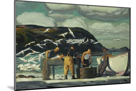 Cleaning Fish-George Wesley Bellows-Mounted Premium Giclee Print