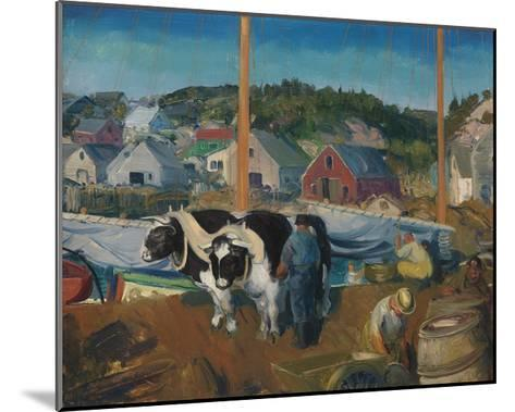Ox Team, Wharf at Matinicus-George Wesley Bellows-Mounted Premium Giclee Print