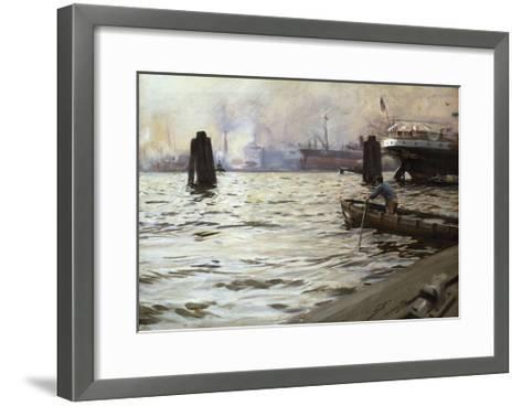 Hamburg Harbour-Anders Zorn-Framed Art Print
