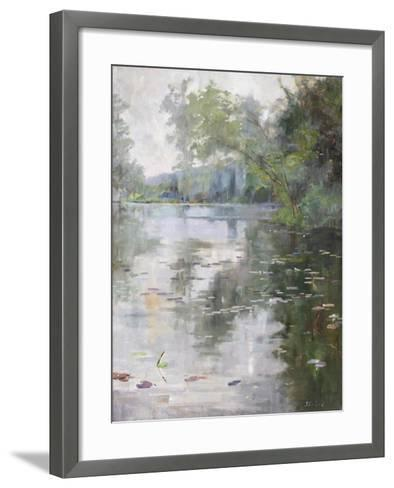 Nénuphars, Water Lilies-Julia Beck-Framed Art Print