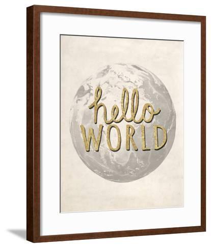 Hello World-Lottie Fontaine-Framed Art Print