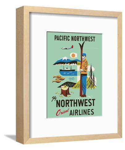 Pacific Northwest - Fly Northwest Orient Airlines--Framed Art Print