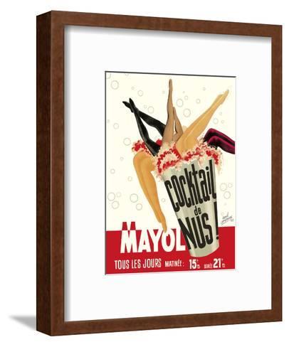 Cocktail de Nus! (Cocktail of Nudes!) - Concert Mayol Cabaret - Paris, France-Ren? Lefebvre-Framed Art Print