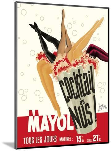 Cocktail de Nus! (Cocktail of Nudes!) - Concert Mayol Cabaret - Paris, France-Ren? Lefebvre-Mounted Art Print
