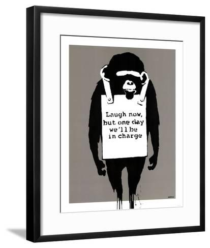 In Charge Monkey--Framed Art Print