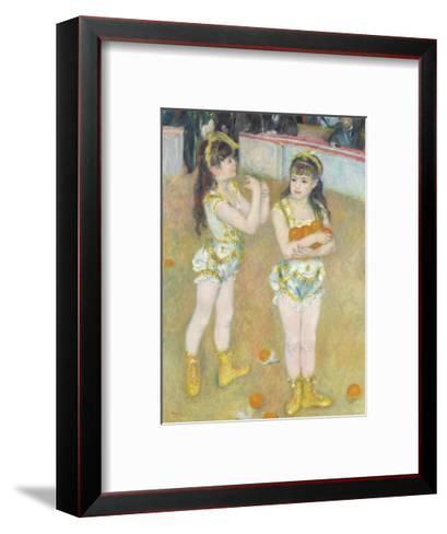 Acrobats at the Cirque Fernando (Francisca and Angelina Wartenberg), 1879-Pierre-Auguste Renoir-Framed Art Print