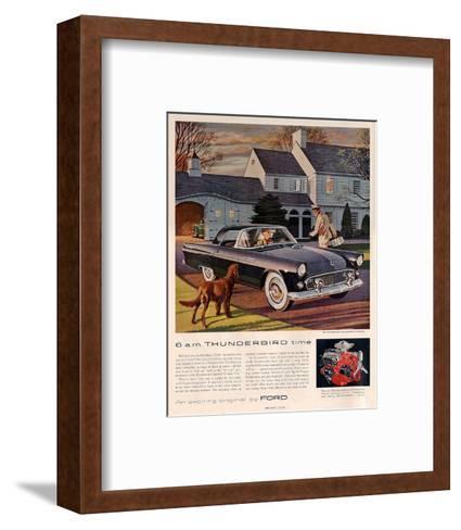 1955 6 A.M. Thunderbird Time--Framed Art Print