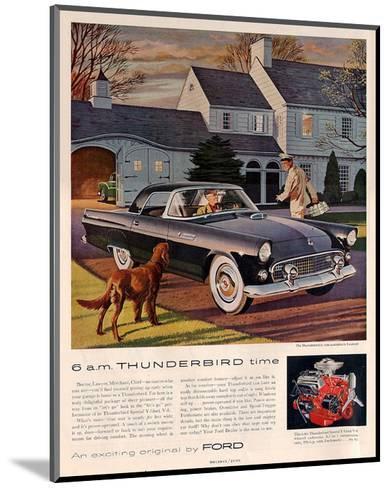 1955 6 A.M. Thunderbird Time--Mounted Art Print