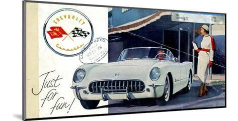 1953 GM Corvette Just for Fun--Mounted Art Print