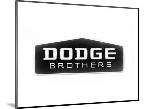 1930 Dodge Brothers Name Plate--Mounted Art Print