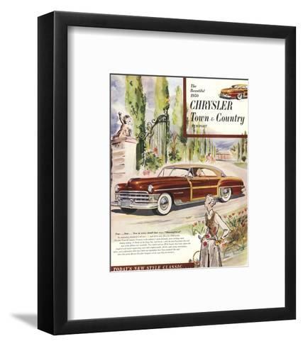1950 Chrysler Town & Country--Framed Art Print