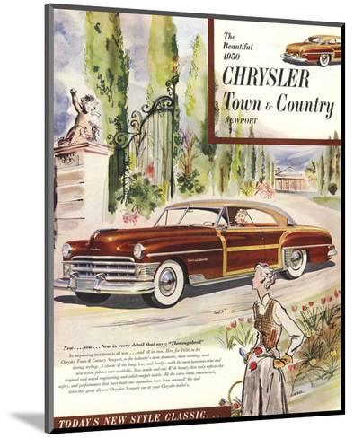 1950 Chrysler Town & Country--Mounted Art Print