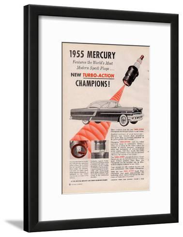 1955 Mercury New Turbo-Action--Framed Art Print