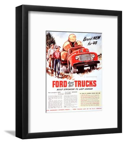 1948 Ford Truck-Built Stronger--Framed Art Print