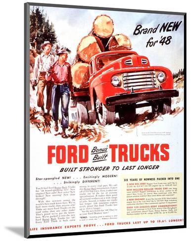 1948 Ford Truck-Built Stronger--Mounted Art Print
