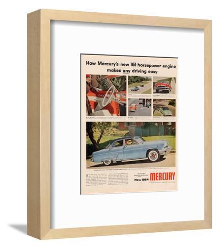 1954Mercury-Makes Driving Easy--Framed Art Print