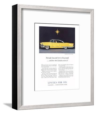 1956 Lincoln Premiere Coupe--Framed Art Print