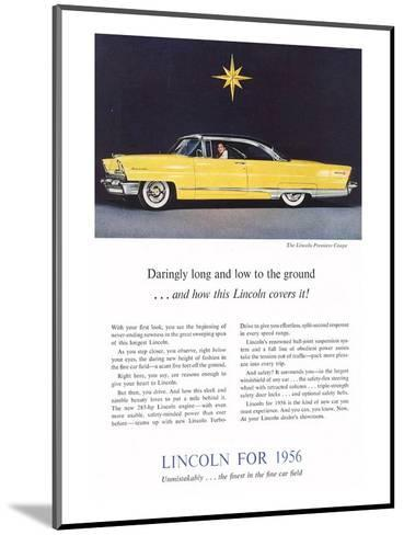 1956 Lincoln Premiere Coupe--Mounted Art Print