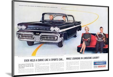 1958 Mercury Sports-Car Spirit--Mounted Art Print