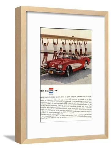 1959 GM Corvette Sports Car--Framed Art Print