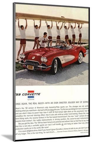 1959 GM Corvette Sports Car--Mounted Art Print