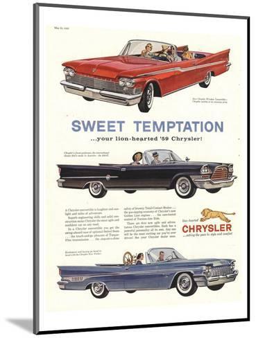 1956 Chrysler-Sweet Temptaion--Mounted Art Print