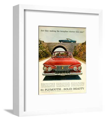 1961 Plymouth-Turnpike Shorter--Framed Art Print