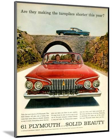 1961 Plymouth-Turnpike Shorter--Mounted Art Print