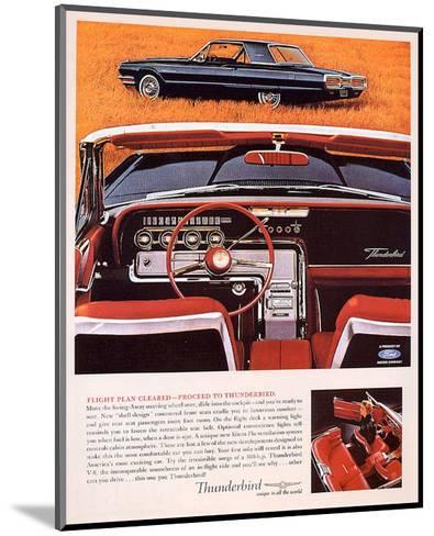 1964 Thunderbird - Flight Plan--Mounted Art Print
