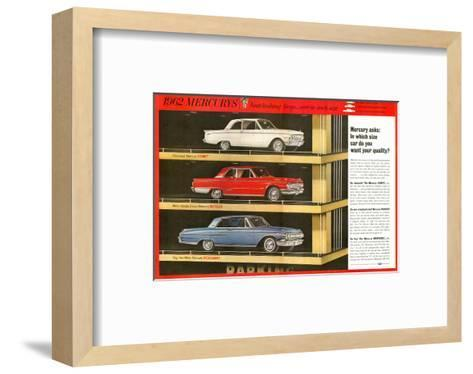 1962 Mercury - Your Quality--Framed Art Print