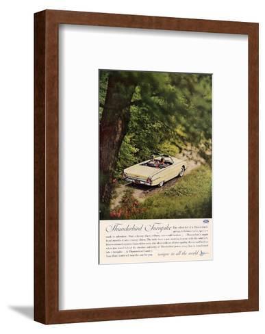 1962 Thunderbird Turnpike--Framed Art Print