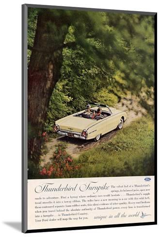 1962 Thunderbird Turnpike--Mounted Art Print