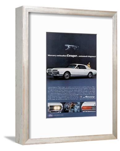 1967 Mercury Unleashes Cougar--Framed Art Print