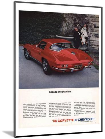 1966 Corvette Escape Mechanism--Mounted Art Print