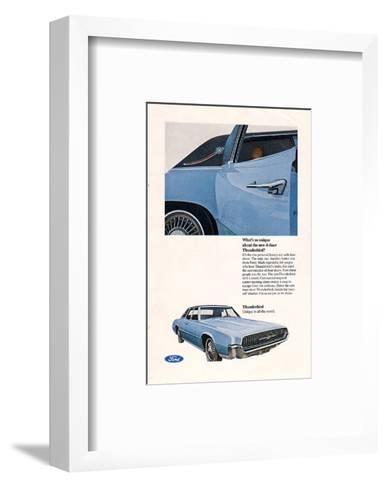 1967 Thunderbird New 4-Door--Framed Art Print