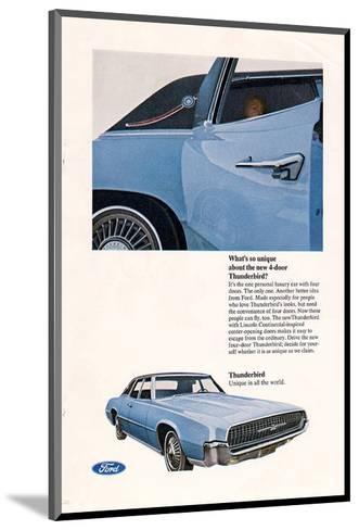 1967 Thunderbird New 4-Door--Mounted Art Print