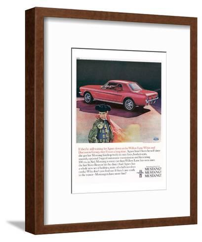 1965 Mustang-Agnes Not Herself--Framed Art Print