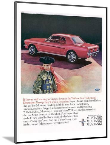 1965 Mustang-Agnes Not Herself--Mounted Art Print