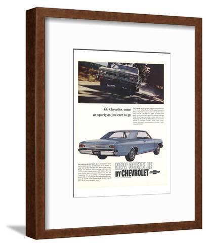 1966 GM Chevrolet Chevelles--Framed Art Print